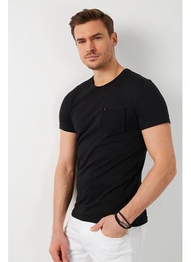 Buratti Buratti % 100 Pamuklu Bisiklet Yaka Cepli T Shirt Erkek T Shirt 5902000 Siyah